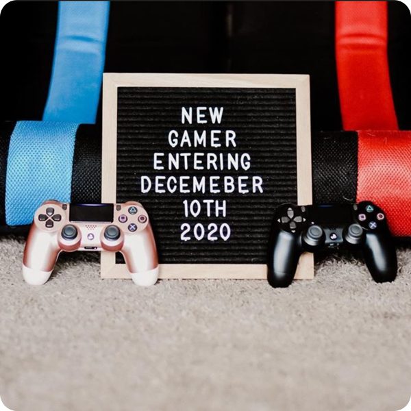 Gaming baby announcement